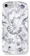 Star Map From Kirchers Oedipus IPhone Case by Science Source