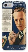 Lucky Strike Cigarette Ad IPhone Case by Granger