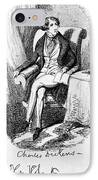 Charles Dickens, English Author IPhone Case by Photo Researchers