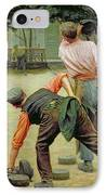 A Game Of Bourles In Flanders IPhone Case by Remy Cogghe