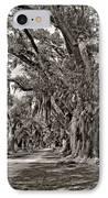 A Stroll Through Time Monochrome IPhone Case by Steve Harrington