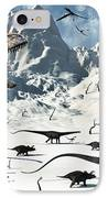 A  Tyrannosaurus Rex Stalks A Mixed IPhone Case by Mark Stevenson