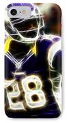 Adrian Peterson 02 - Football - Fantasy IPhone Case by Paul Ward
