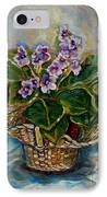 African Violets IPhone Case by Carole Spandau