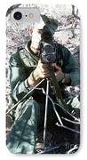 An Army Ranger Sets Up An Anpaq-1 Laser IPhone Case by Stocktrek Images