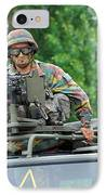 An Infantry Soldier Of The Belgian Army IPhone Case by Luc De Jaeger