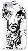 Aristotle, Caricature IPhone Case by Gary Brown