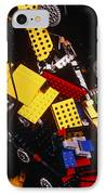 Assorted Lego Bricks And Cogs. IPhone Case by Volker Steger