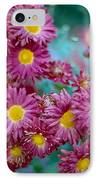 Asters IPhone Case by Marcio Faustino