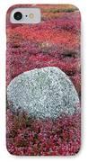 Autumn Blueberry Field IPhone Case by John Greim