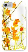 Autumn Leaves Abstract IPhone Case by Andee Design