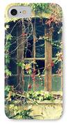 Autumn Vines Across A Window IPhone Case by Georgia Fowler
