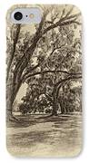 Back To The Future Antique Sepia IPhone Case by Steve Harrington