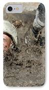 Basic Cadet Trainees Attack The Mud Pit IPhone Case by Stocktrek Images
