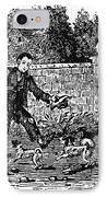 Bewick: Boy With Dogs IPhone Case by Granger