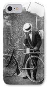 Bicycle Radio Antenna, 1914 IPhone Case by