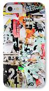 Billboard With Old Torn Posters IPhone Case by Richard Thomas