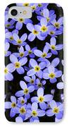 Bluets In Shade IPhone Case by Thomas R Fletcher