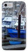 Boats Docked In Harbor IPhone Case by Jeff Lowe