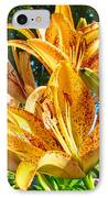 Bold Colorful Orange Lily Flowers Garden IPhone Case by Baslee Troutman