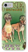 Boxer Brigade Chew Toys IPhone Case by Amelia Hunter