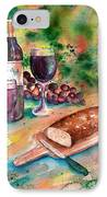 Bread And Wine IPhone Case by Sharon Mick
