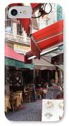 Brussels Restaurant Street - Rue De Bouchers IPhone Case by Carol Groenen
