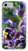Bumble Bee On Flower IPhone Case by Renee Trenholm