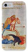 Byzantines Cavalrymen Pursuing The Rus IPhone Case by Photo Researchers