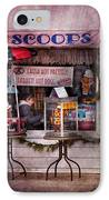 Cafe - Clinton Nj - The Luncheonette  IPhone Case by Mike Savad