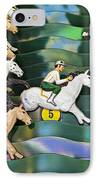 Carnival Horse Race Game IPhone Case by Garry Gay