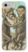 Charles Darwin Caricature, 1874 IPhone Case by Science Source
