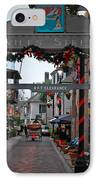 Christmas On Aviles Street IPhone Case by DigiArt Diaries by Vicky B Fuller