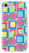 Circles And Squares IPhone Case by Louisa Knight