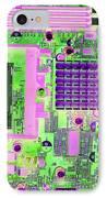 Circuit Board IPhone Case by Victor De Schwanberg