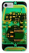 Circuit Boards IPhone Case by Adam Hart-davis