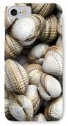 Cockle Shell Background IPhone Case by Jane Rix