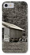Country Life Sepia IPhone Case by Steve Harrington