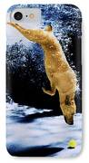 Diving Dog IPhone Case by Jill Reger