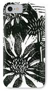 Echinacea Block Print IPhone Case by Ellen Miffitt