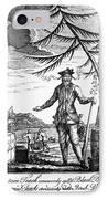 Edward Teach (?-1718) IPhone Case by Granger