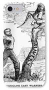 Emancipation Cartoon, 1862 IPhone Case by Granger