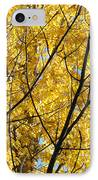 Fall Trees Art Prints Yellow Autumn Leaves IPhone Case by Baslee Troutman