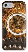 Fancy Pocketwatch On Gears IPhone Case by Garry Gay