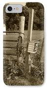 Fence Post IPhone Case by Jennifer Ancker