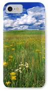 Field Of Flowers, Grasslands National IPhone Case by Robert Postma