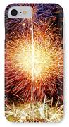 Fireworks_1591 IPhone Case by Michael Peychich