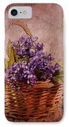Flower Basket IPhone Case by Judi Bagwell