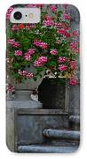 Flowers On The Steps IPhone Case by Mary Machare