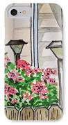 Front Yard Lights Sketchbook Project Down My Street IPhone Case by Irina Sztukowski